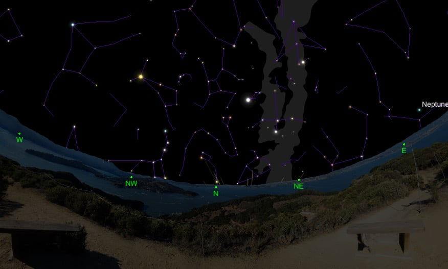9 malam langit Semenanjung Malaysia